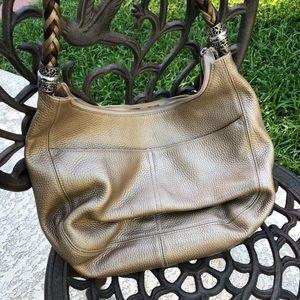 BRIGHTON Zinc Pearl Barbados Hobo Bag. EUC.